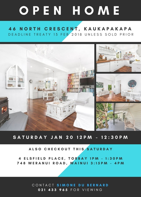 Open Home - January 20, 2018